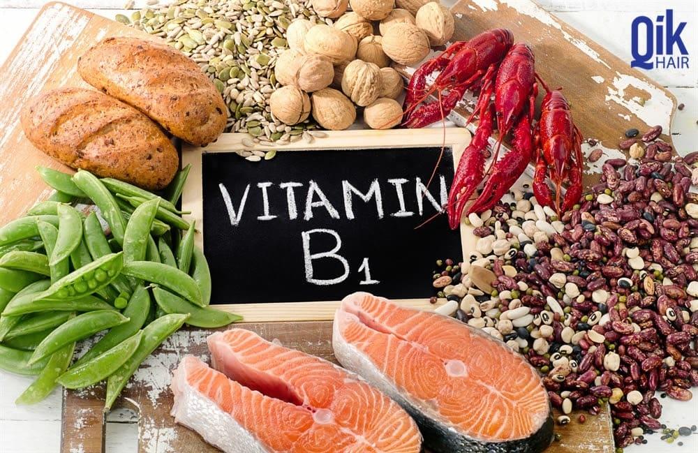 vitamin b1 ngan ngua toc rung