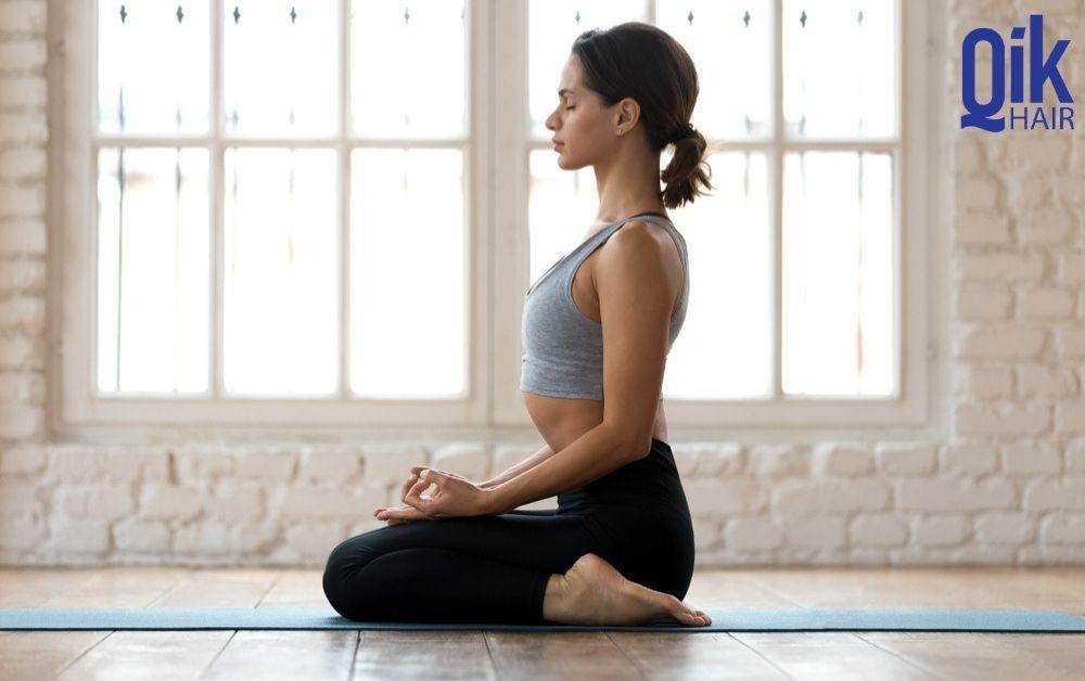 tu the tap yoga Vajrasana giam rung toc tai nha