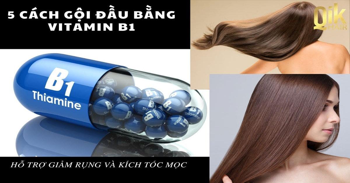 goi dau bang vitamin b1 giam rung toc kich thich moc toc
