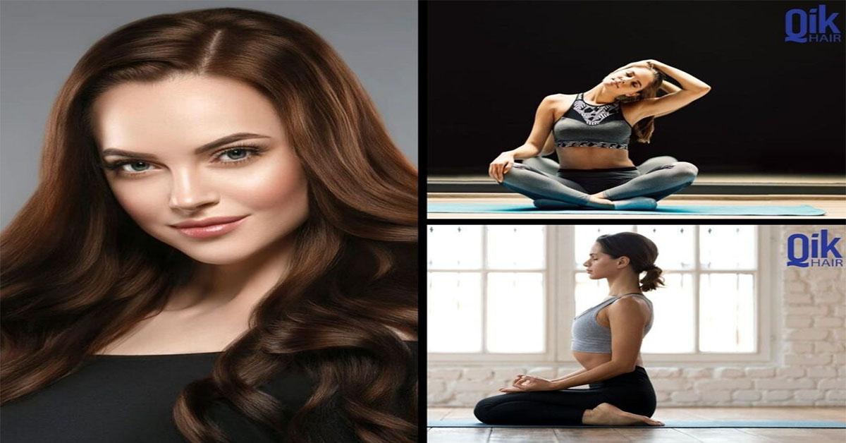 yoga giam rung toc