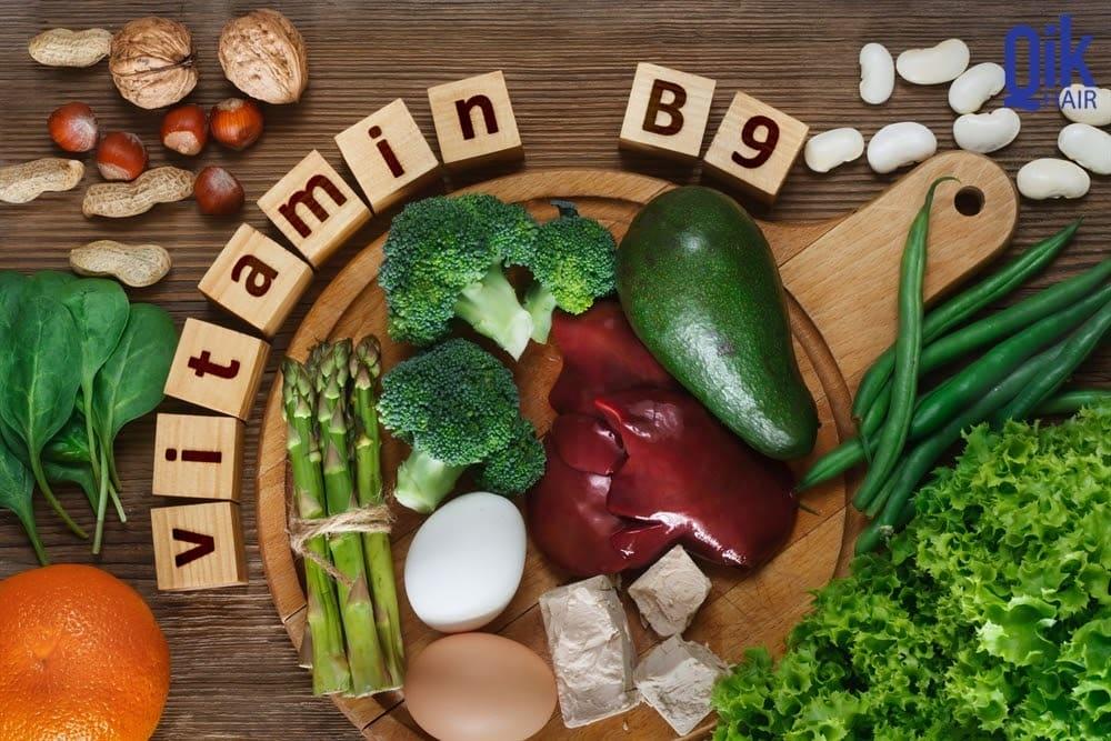 vitamin b9 giup moc toc day