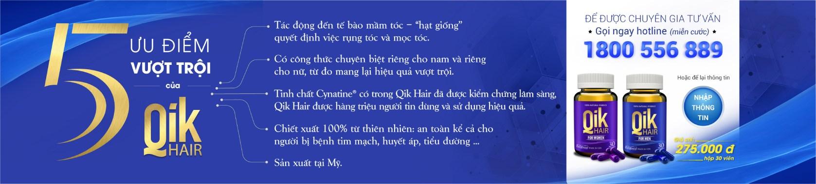 ưu điểm của qik hair pc