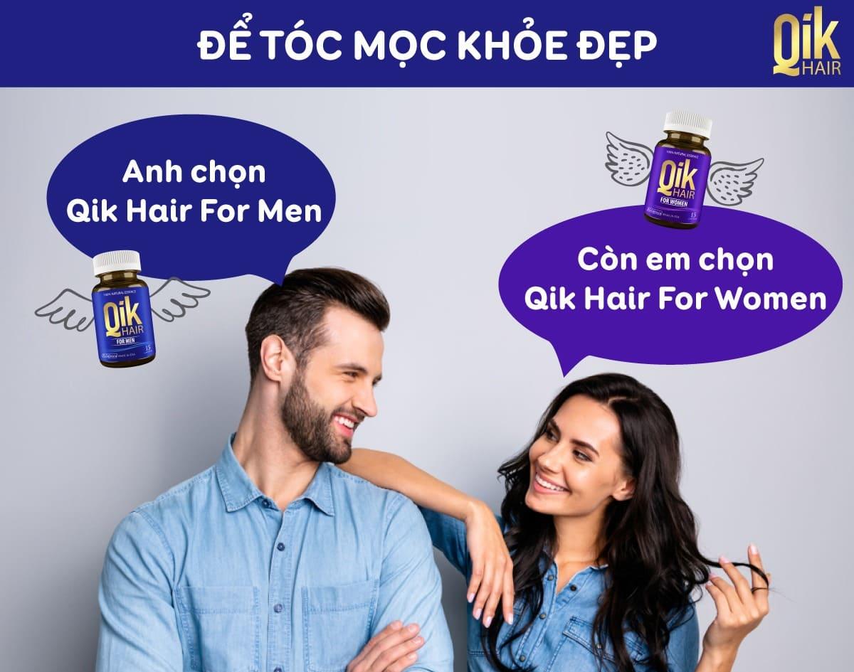 qik hair cho nam va nu tri rung toc sau 4 tuan su dung